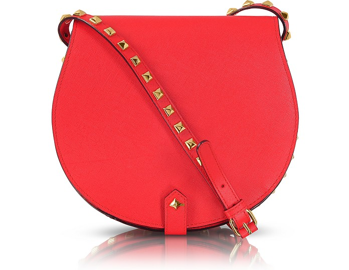 Skylar Bright Red Studded Leather Crossbody Bag - Rebecca Minkoff
