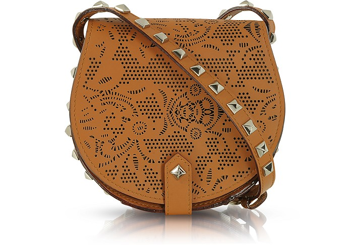 Skylar Mini Brown Perforated Leather Crossbody - Rebecca Minkoff / レベッカ ミンコフ