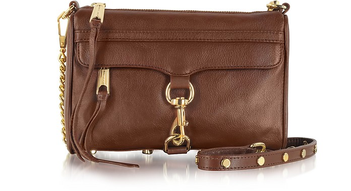 Mini M.A.C. Leather Clutch w/Shoulder Strap - Rebecca Minkoff