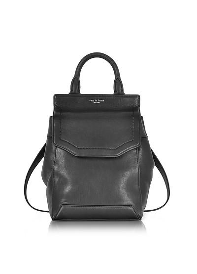 Black Leather Small Pilot Backpack II - Rag & Bone