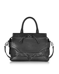 Black Leather Pilot Satchel Bag - Rag & Bone