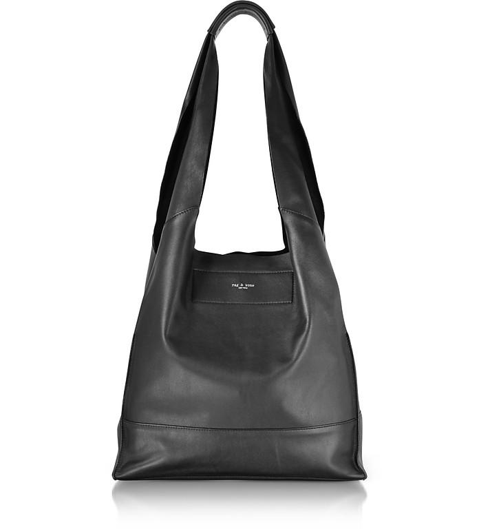 Black Leather Walker Shopper Tote Bag - Rag & Bone