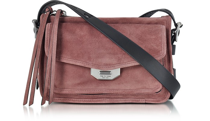Rag   Bone Mauve Suede Small Field Messenger Bag at FORZIERI 6e37eda705ed6