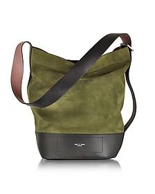 Olive Green Suede Walker Sling Shoulder Bag - Rag & Bone