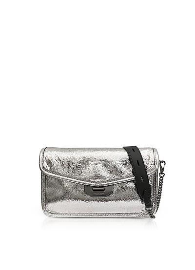 Silver Crackle Leather Field Clutch - Rag & Bone
