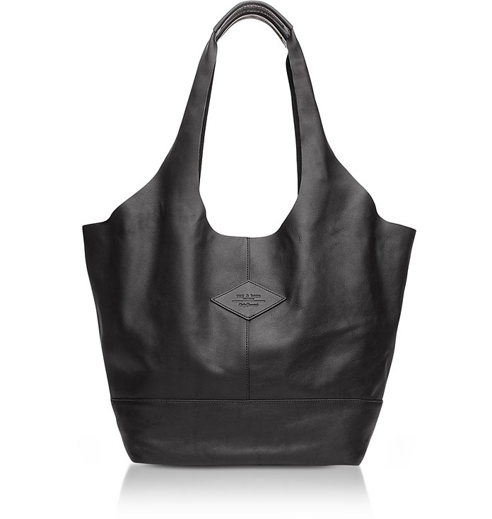 Camden Black Leather Shopper - Rag & Bone