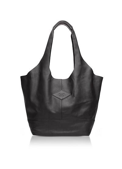 Camden Black Leather Shopper - Rag & Bone
