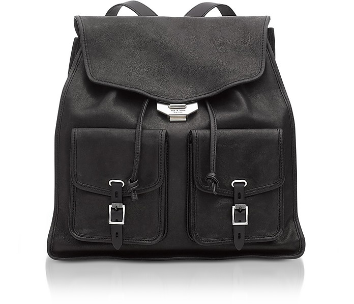 Black Leather Field Backpack - Rag & Bone