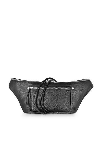 Black Leather Large Elliot Fanny Pack / Belt Bag - Rag & Bone