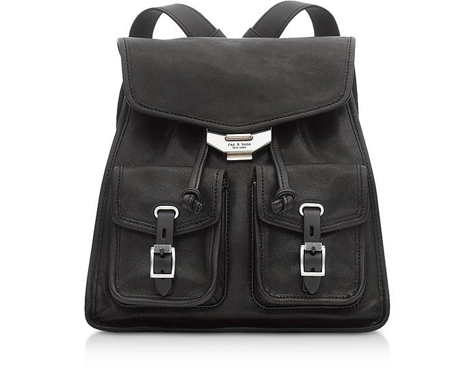 Field kleiner Rucksack aus Leder in schwarz - Rag & Bone