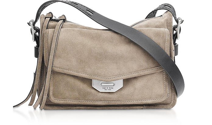 Warm Grey Suede Small Field Messenger Bag - Rag & Bone