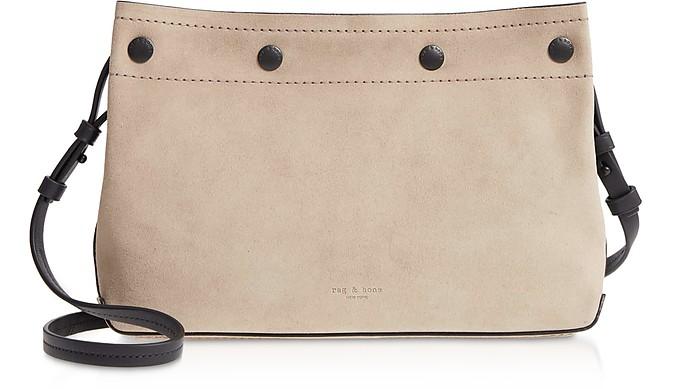 Warm Grey Suede Compass Snap Crossbody Bag - Rag & Bone