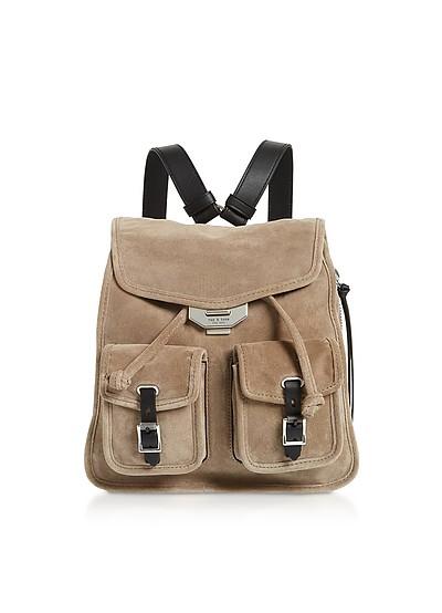 Warm Grey Suede Field Small Backpack - Rag & Bone