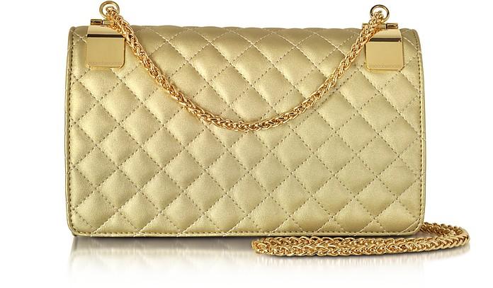 Idillio Golden Quilted Eco leather Shoulder Bag - Roccobarocco