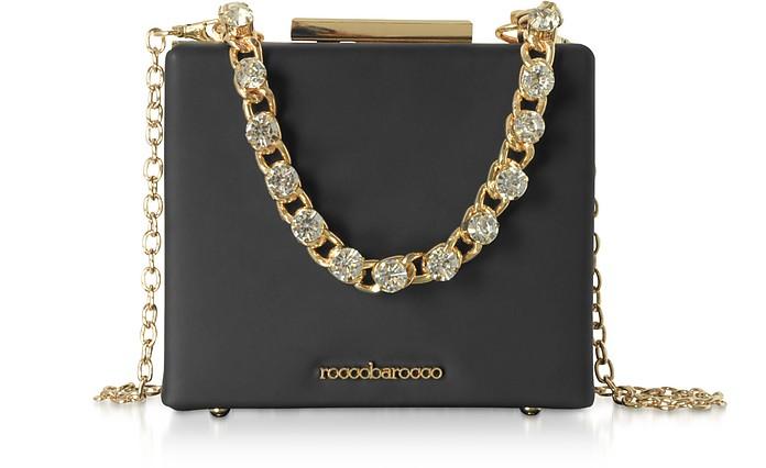 Churro Black Matte Eco-Leather Shoulder Bag - Roccobarocco