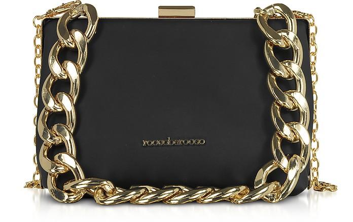 Pita Black Matte Eco-Leather Shoulder Bag - Roccobarocco / ロッコバロッコ