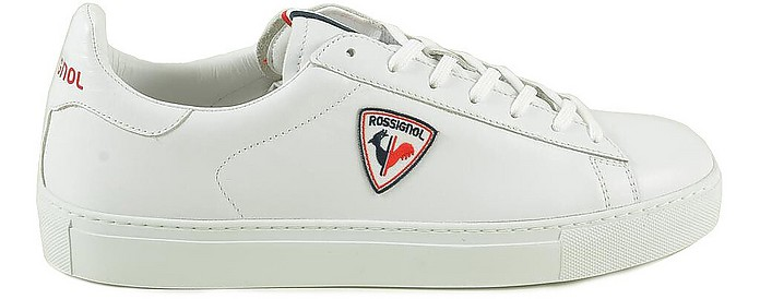 White Leather Men's Tennis Sneakers - Rossignol