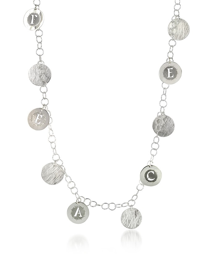 Sterling Silver Peace Charm Long Necklace - Rosato / ロザート