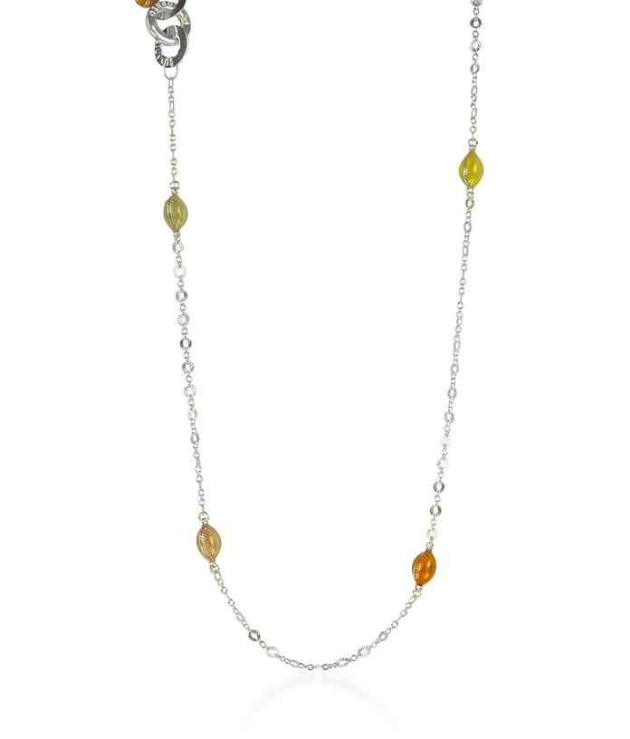 Sterling Silver Long Necklace w/Shells - Rosato / ロザート