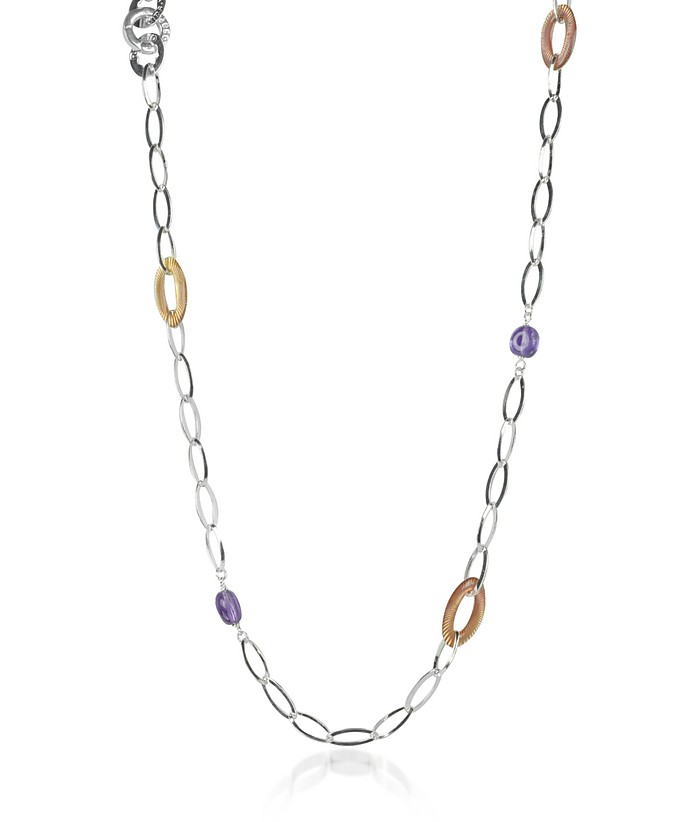 Sterling Silver Long Necklace w/Beads - Rosato / ロザート