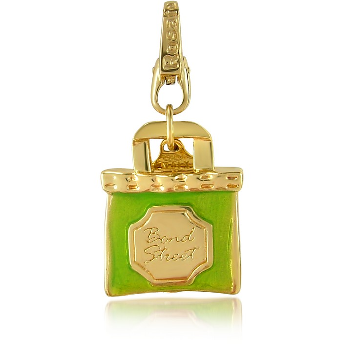 City - London Bond Street 18K Gold Tote Charm Pendant  - Rosato