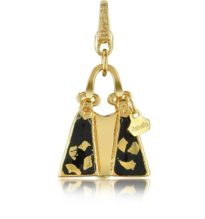 Classic  - Catherine 18K Gold Sahara Bag Charm Pendant - Rosato
