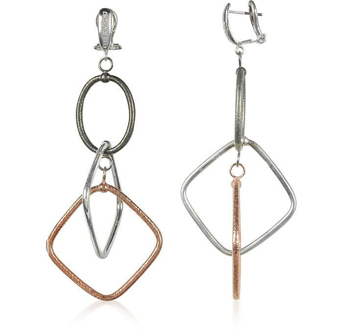 Rose Gold Plated Sterling Silver Aria Long Earrings - Rosato / ロザート