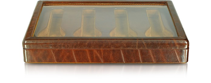 Braune Uhrenschatulle aus Kalbsleder - Forzieri