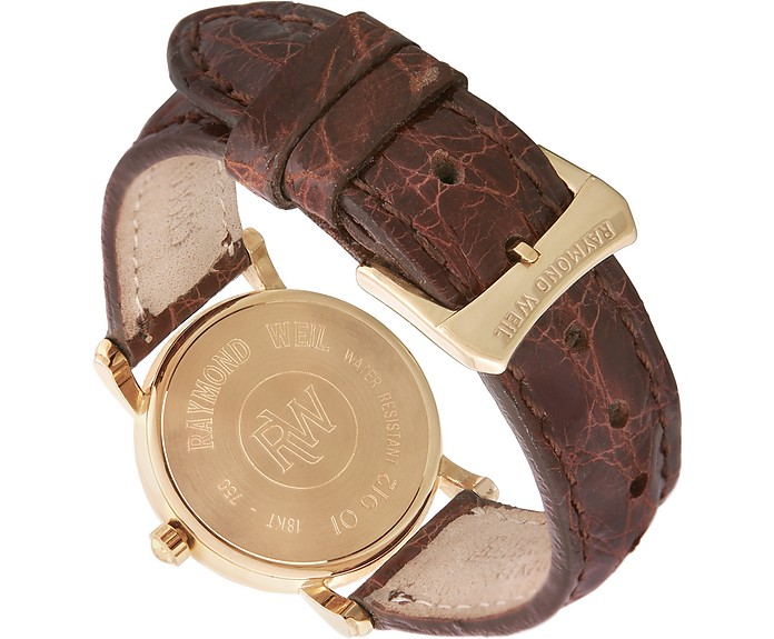 b076449a5 Brown Croco-Stamped Leather Strap 18K Gold Date Dress Watch - Raymond Weil.  €1.278,40 Actual transaction amount