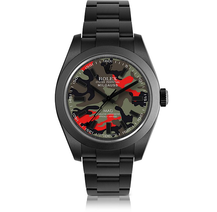 473a0b75858 Customized Rolex Milgauss Red Camo Dial Men s Watch - MAD Customized Watches