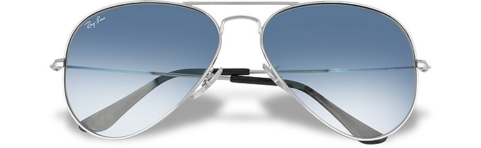 Aviator Sonnenbrille mit blau getönten Gläsern - Ray Ban