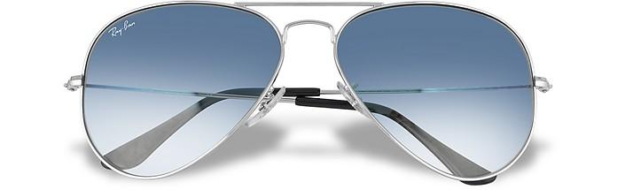 Aviator - Silvertone Metal Sunglasses - Ray Ban