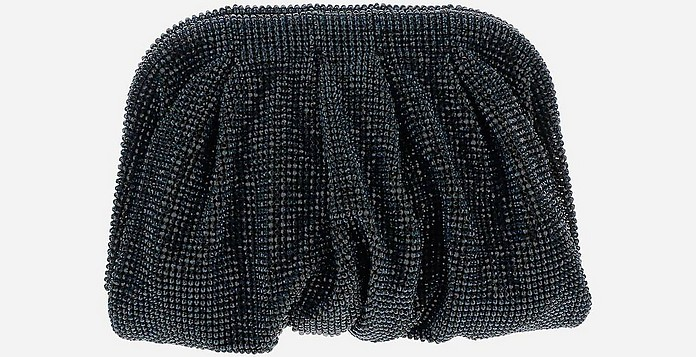 Black Crystals Mesh Venus La Petite Clutch - Benedetta Bruzziches