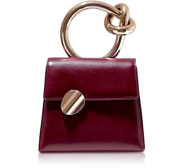 Brigitta Small Bordeaux Satchel - Benedetta Bruzziches