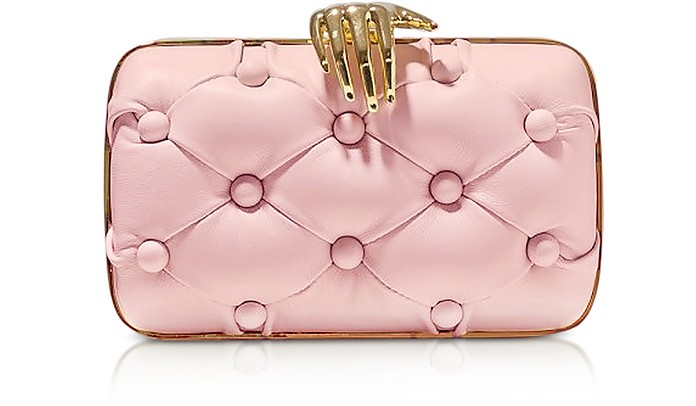 Rose Leather Carmen with Hand Clutch - Benedetta Bruzziches