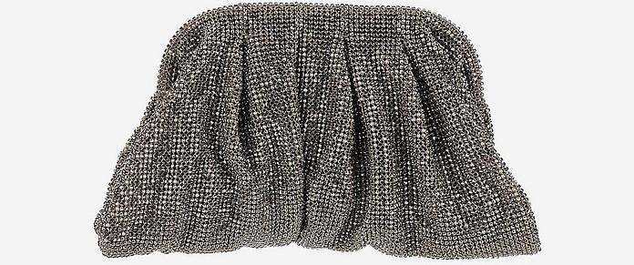 Venus Small Silver Crystal Clutch  - Benedetta Bruzziches
