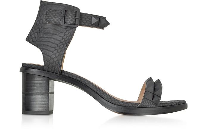 Colbie Snake Embossed Studded Sandals - Rachel Zoe