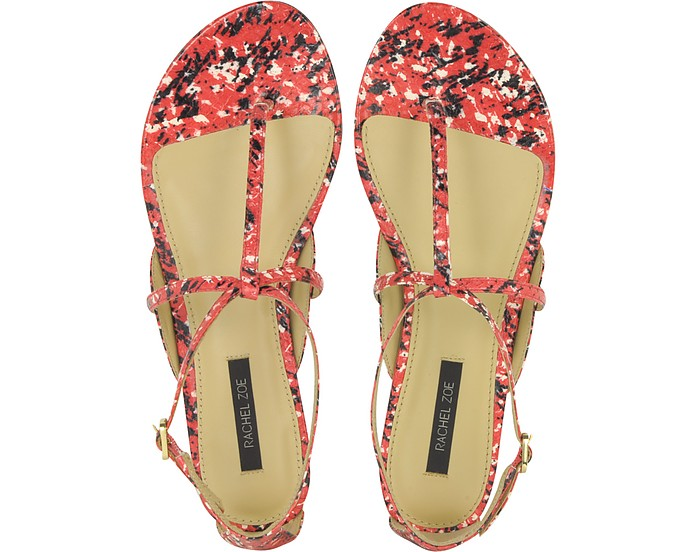 e855c43c2 Gwen Snakeskin Flat Sandal - Rachel Zoe.  195.00 Actual transaction amount