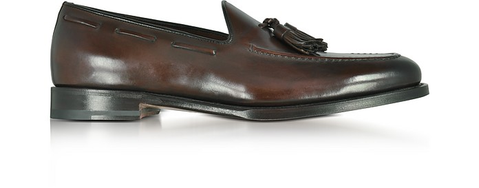 Tassel loafers dark brown Santoni xhraXh