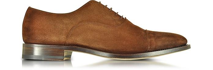Brown Suede Oxford Shoes  - Santoni