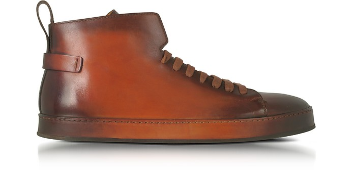 High-top sneakers brown Santoni nPlus