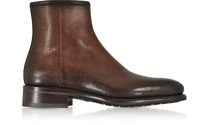 bottines en cuir santoni