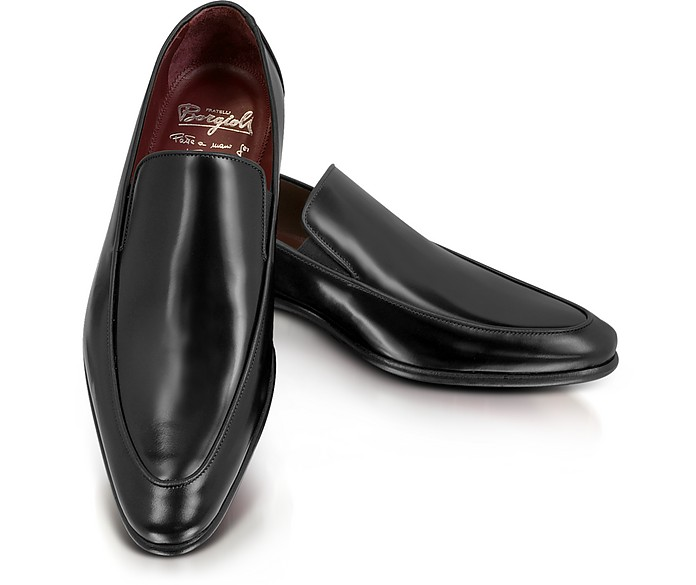 Cricket Black Leather Loafer - Fratelli Borgioli