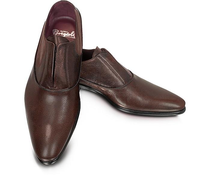 Treno - Laceless Leather Oxford - Fratelli Borgioli