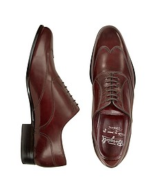 Chaussures faites main en cuir italien bordeaux - Fratelli Borgioli