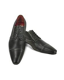 Zapatos Hechos a Mano Piel Negros - Fratelli Borgioli