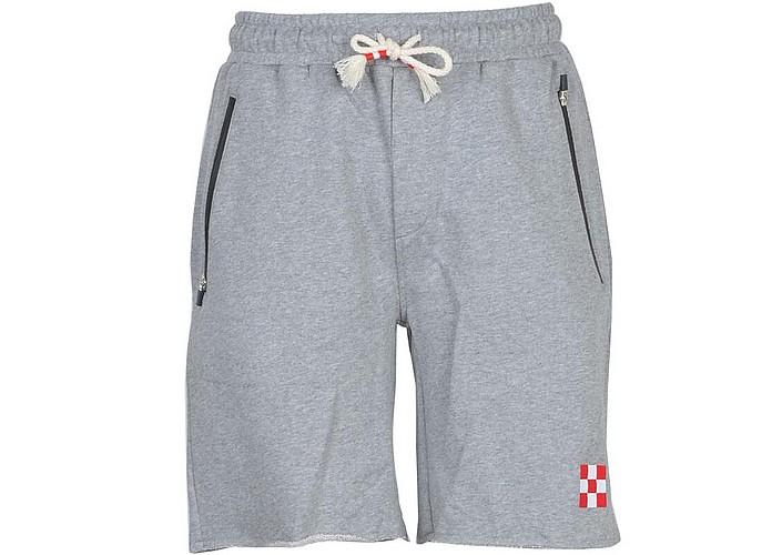 Men's Gray Bermuda Shorts - Saint Barth Mc2