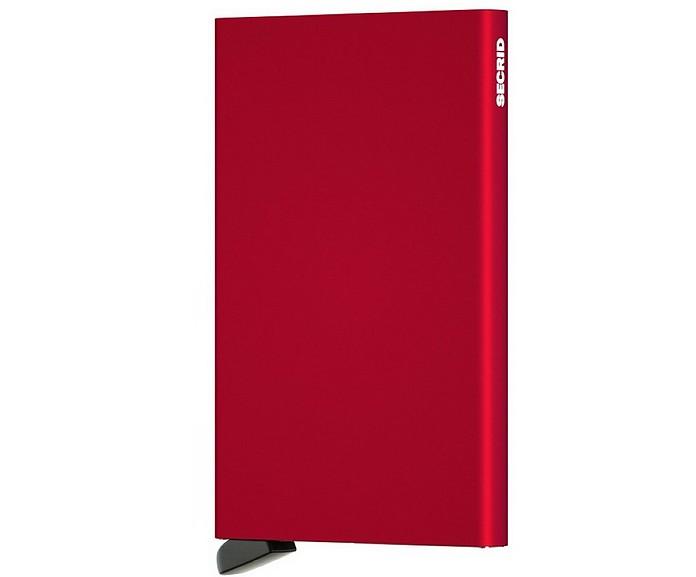 Red Aluminium Sliding Card Holder - Secrid