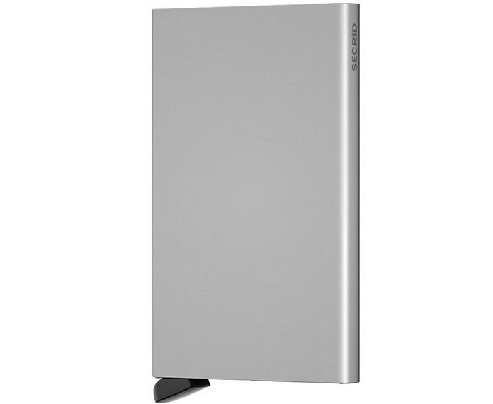 Silver Aluminium Sliding Card Holder - Secrid