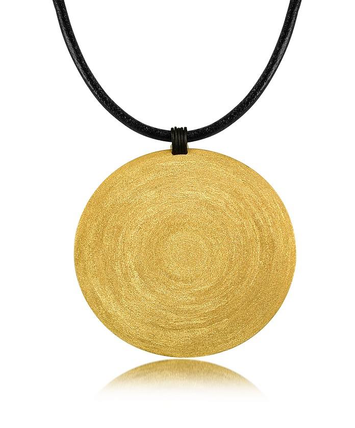 collier avec pendentif anneaux de grande taille en argent dor stefano patriarchi sur forzieri. Black Bedroom Furniture Sets. Home Design Ideas